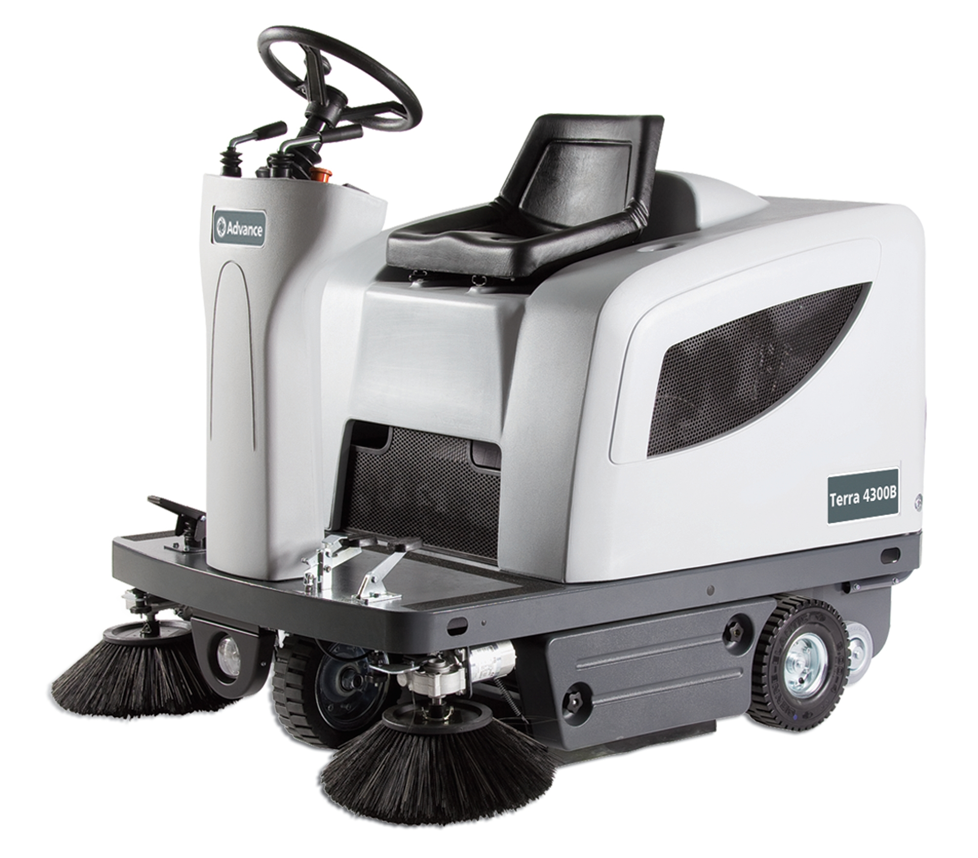 Product, Floor cleaning, Sweepers, Ride-on sweepers, Nilfisk, TERRA 4300B PACKAGE