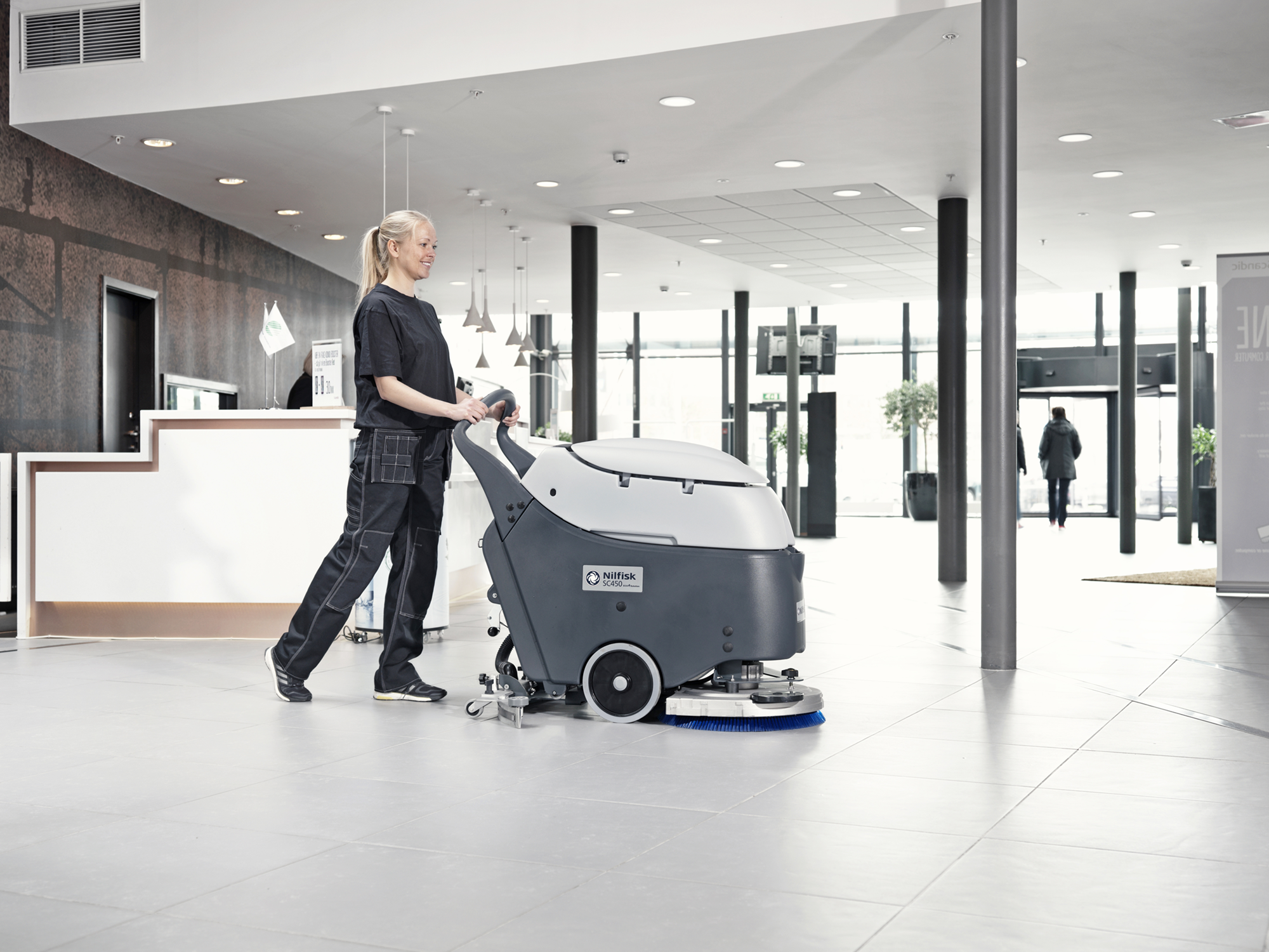 Product, Floor cleaning, Scrubber dryers, Walk-behind scrubber dryers, Medium walk-behind scrubber dryers, Nilfisk, SC450B G105 OBC PH BR