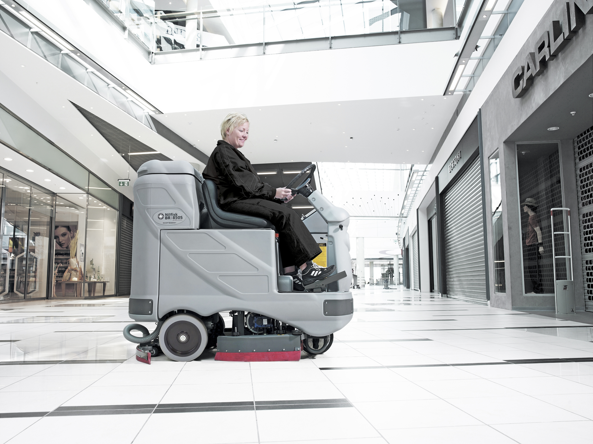 Product, Floor cleaning, Scrubber dryers, Stand-on and ride-on scrubber dryers, Nilfisk, BR850SC X