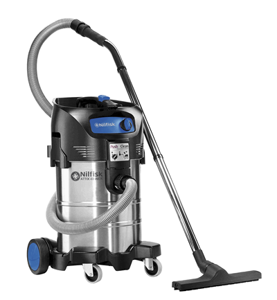 Product, Vacuum cleaners, Industrial vacuum cleaners, Single-phase wet and dry, Nilfisk, ATTIX 40-01 PC INOX 220-240V 50/60HZ EU