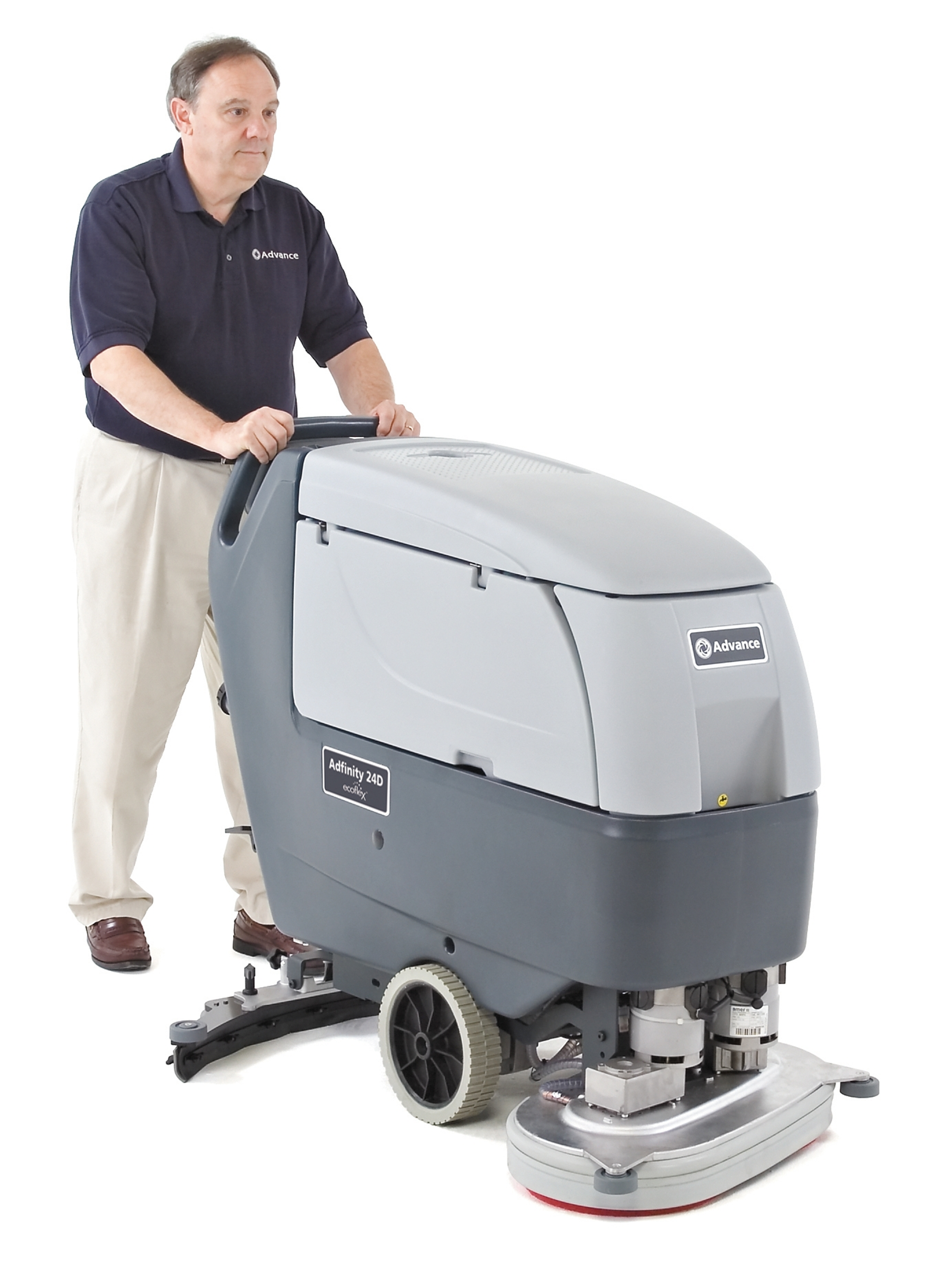 Product, Floor cleaning, Scrubber dryers, Walk-behind scrubber and dryers, Medium walk-behind scrubber and dryers, Nilfisk, ADFINITY X24D PACKAGE W/BAT