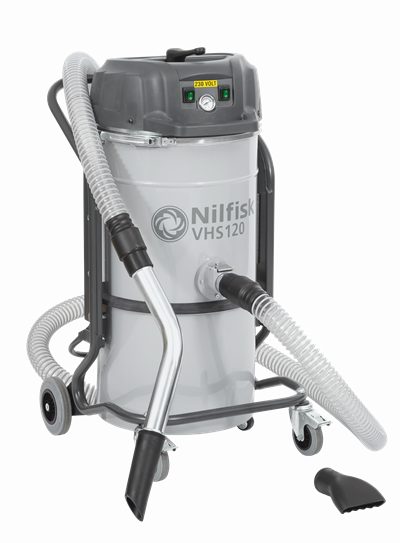 Product, Vacuum cleaners, Industrial vacuum cleaners, Single-phase wet and dry, Nilfisk, VHS120 All-In-One #Metal - Chips