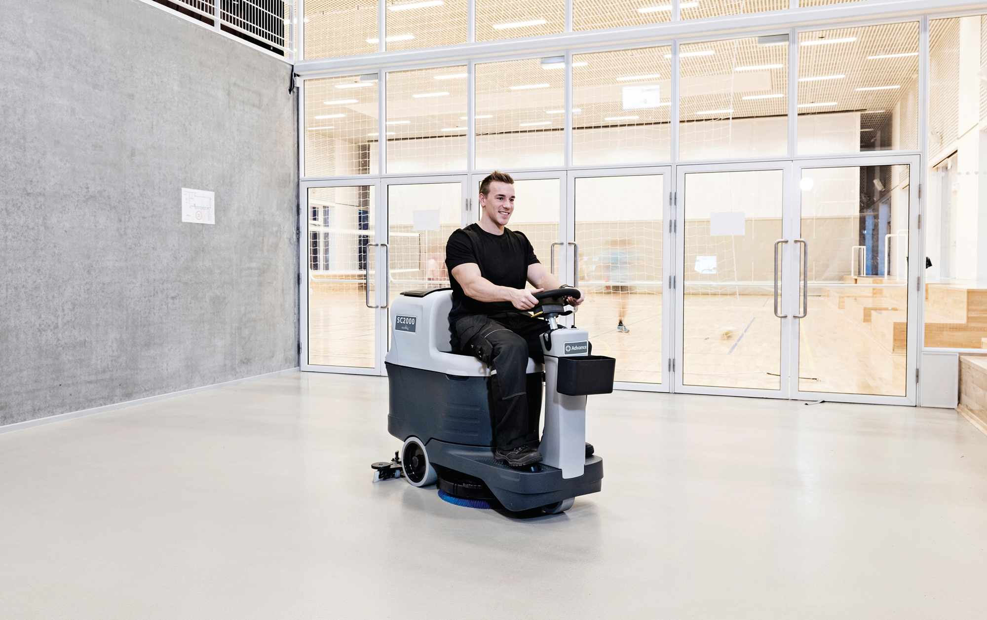 Product, Floor cleaning, Scrubber dryers, Stand-on and ride-on scrubber dryers, Nilfisk, SC2000 20D ECOFLEX A150 OBC PH