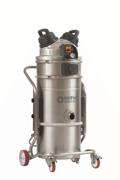 Product, Vacuum cleaners, Industrial vacuum cleaners, Food, pharma and OEM, Nilfisk, VHS110 CR