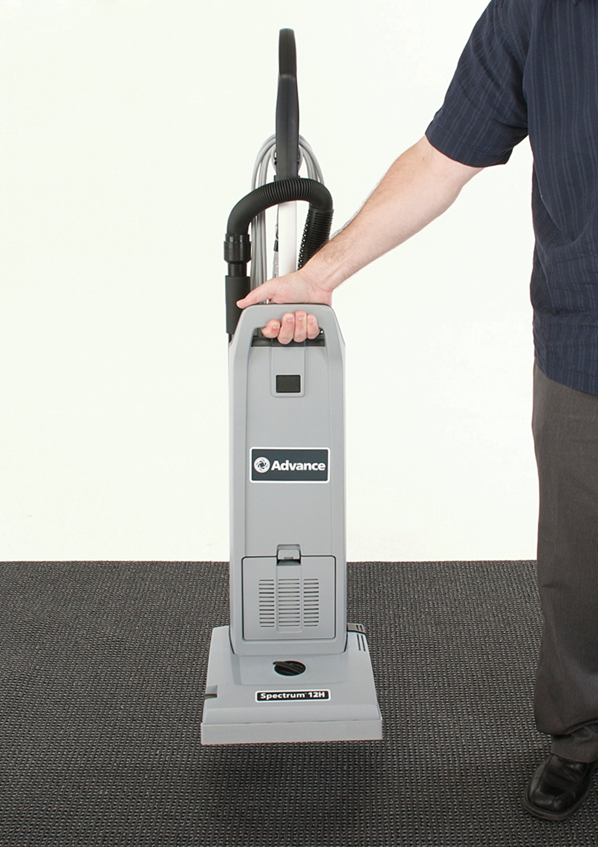 Product, Carpet Cleaning, Commercial Vacuum Cleaners, Upright Vacuum Cleaners, Nilfisk, ADVANCE SPECTRUM 12P