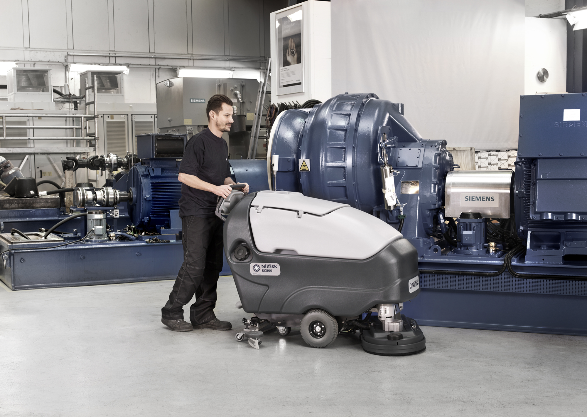 Product, Floor cleaning, Scrubber dryers, Walk-behind scrubber and dryers, Large walk-behind scrubber and dryers, Nilfisk, SC800 -71C