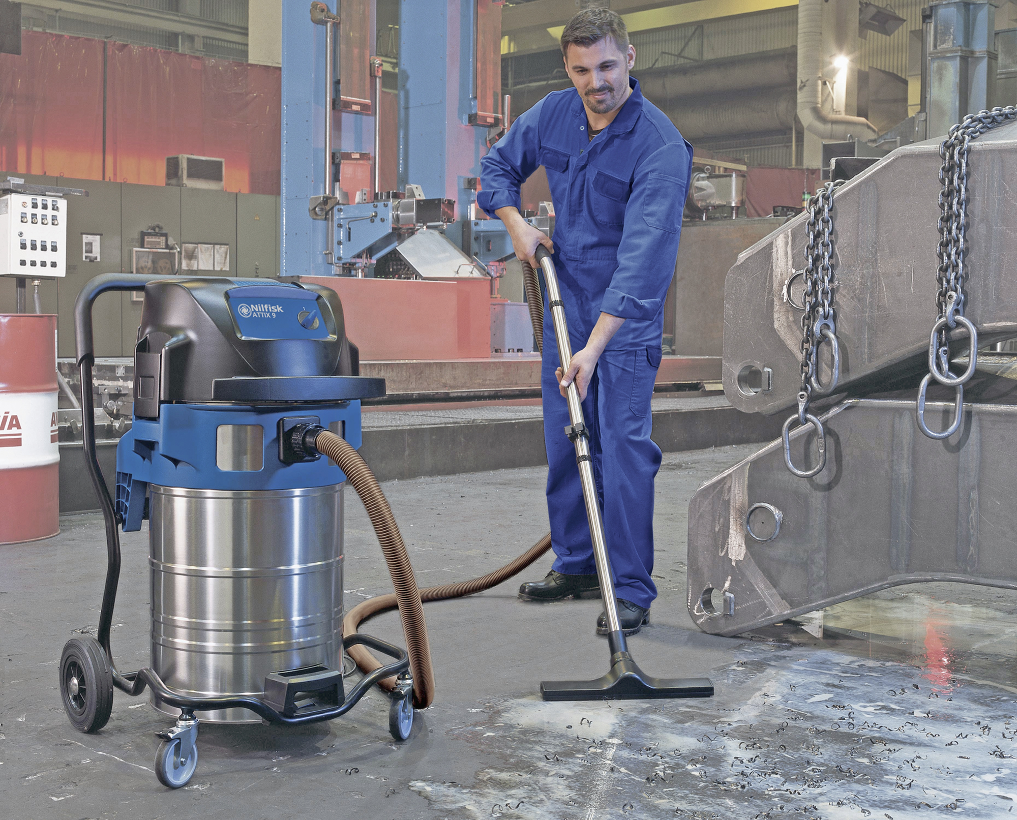 Product, Vacuum cleaners, Industrial vacuum cleaners, Single-phase wet & dry, Nilfisk, ATTIX 961-01 16A 230/1/50 EU