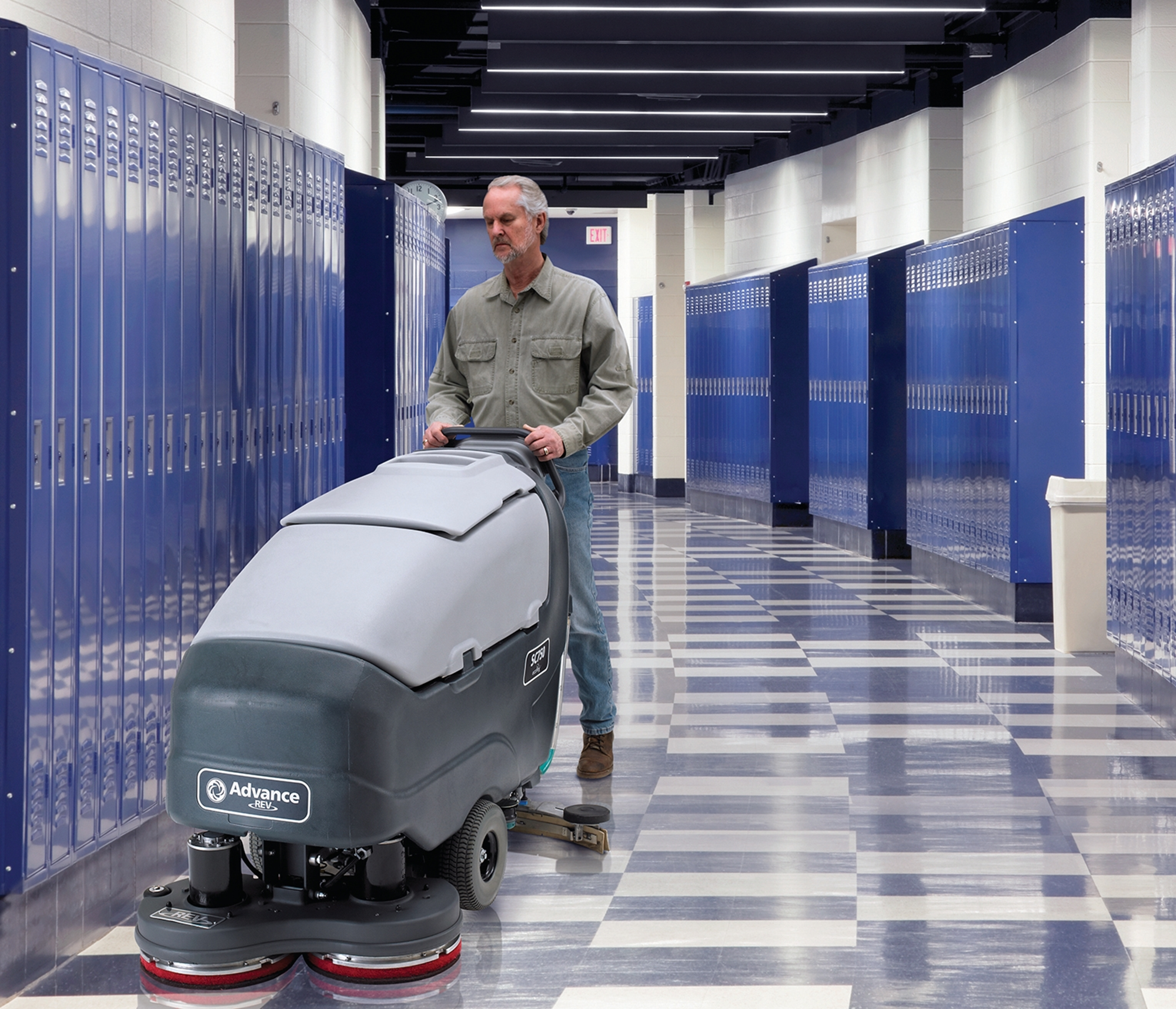 Product, Floor Cleaning, Scrubbers, Walk-behind Scrubbers, Large, Nilfisk, SC750 28C ECOFLEX A312 OBC PB