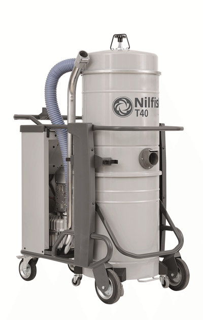 Product, Vacuum cleaners, Industrial vacuum cleaners, Three-phase wet & dry, Nilfisk, T40 L100