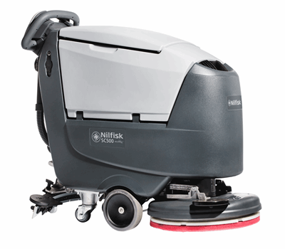 Product, Floor cleaning, Scrubber dryers, Walk-behind scrubber and dryers, Medium walk-behind scrubber and dryers, Nilfisk, SCRUBBER SC500 53R B