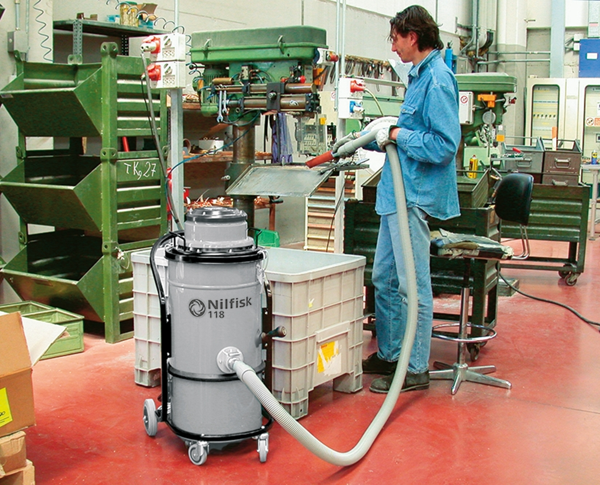 Product, Vacuum cleaners, Industrial vacuum cleaners, Single-phase wet & dry, Nilfisk, 118 FN