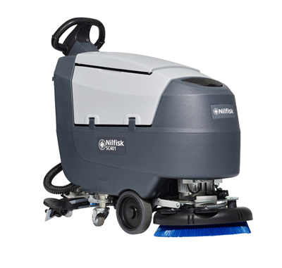 Product, Floor cleaning, Scrubber dryers, Walk-behind scrubber and dryers, Small walk-behind scrubber and dryers, Nilfisk, SCRUBBER SC401 43 E