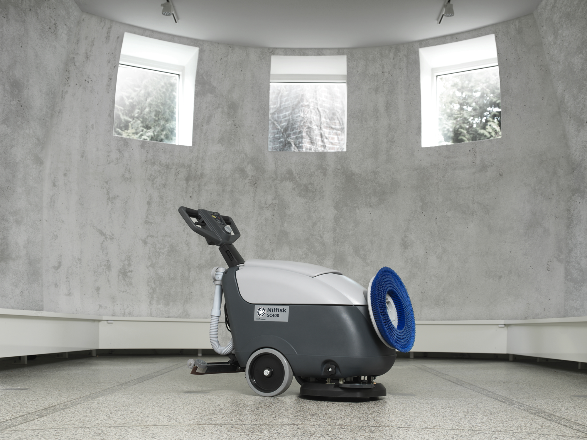 Product, Floor cleaning, Scrubber dryers, Walk-behind scrubber and dryers, Small, Nilfisk, SC400 B