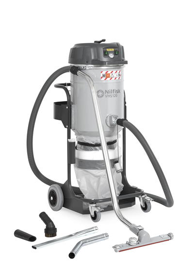 Product, Vacuum cleaners, Industrial vacuum cleaners, Hazardous dust, Single-phase, Nilfisk, VHS 120 M Class