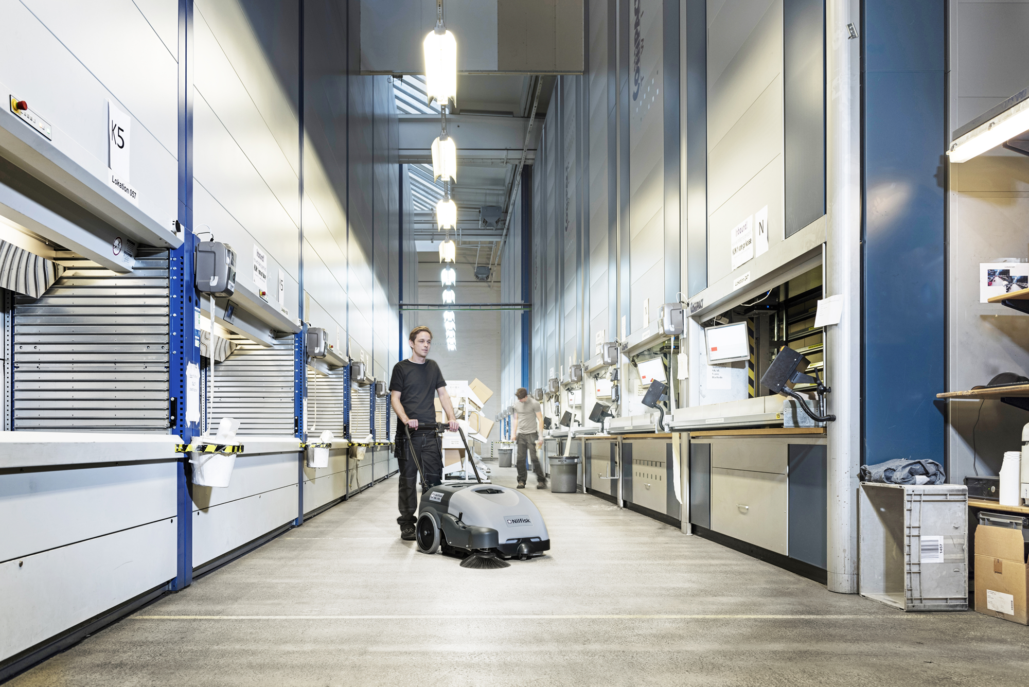Product, Floor cleaning, Sweepers, Walk-behind sweepers, Nilfisk, SWEEPER SW750 UK